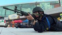 South Korea simulates terror attack