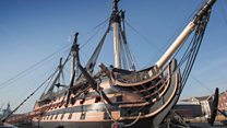HMS Victory work starts to prevent warship's collapse
