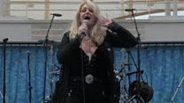 Bonnie Tyler belts out Total Eclipse