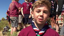 Scouts react to 'incredible' solar eclipse