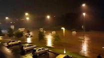 Dozens trapped in cars Derry flooding