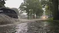 Flash floods in Leeds as heavy rain hits