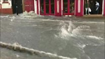 Flash flood turns streets into rivers