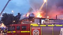 100 firefighters tackle Poundland blaze