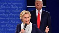 「ぞっとした」 TV討論会で背後に近づくトランプ氏に クリントン氏回顧録