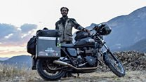 Biker sets record for travelling world
