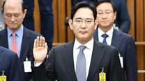Why is the heir to Samsung on trial?