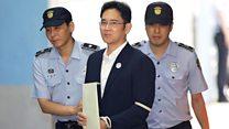 Samsung heir boards prison bus