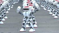 Apresentação coletiva de robôs dançarinos bate recorde mundial