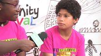 Children celebrate Notting Hill carnival