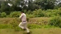 जब बच्चों को बचाने के लिए बम लेकर दौड़ा पुलिसवाला