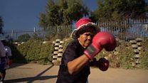See grandmama dem wey dey learn boxing