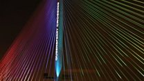 Queensferry Crossing: Coundown to light show