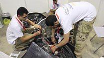 سيارة سعودية تجتاز 350كلم بلتر من الوقود