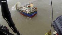 """Удар """"Пакхара"""": спасение моряков с тонувшего корабля"""
