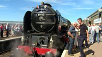 Hundreds turn out to see steam train