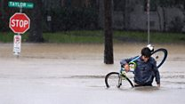 Floodwaters continue to rise in Houston