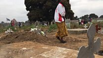 Kinshasa: des habitations en plein cimetière