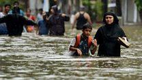 Mumbai battles flooded streets