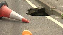 Sinkhole road still shut four months on