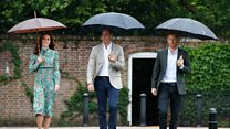 William and Harry visit Diana memorial