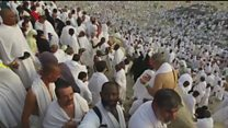 Hajj pilgrims gather at Mount Arafat