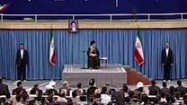 واکنش به جلوگیری از سخنان انتقادی یک طلبه در حضور رهبر ایران