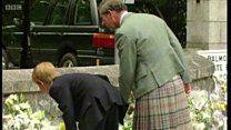 Royal family at Balmoral after death of Diana