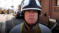 Warehouse collapse feared by firefighters