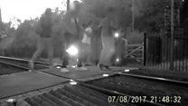 Children 'risking lives' on level crossing