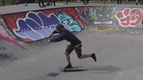 Skaters give park graffiti facelift