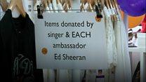 'Ed Sheeran' opens charity shop
