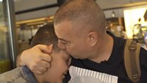 Tears of joy as Syrian family reunited