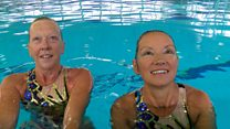 Synchronised swimmers win on return to the pool