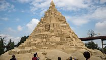 Germany gets world-record sandcastle