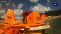 RNLI crews rescue boy injured at sea