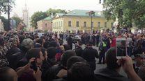 """Акция мусульман в Москве: """"Если проблему не решат, мы джихад будем делать!"""""""