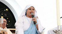 The nun rapping for Pope Francis