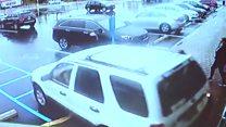 Car crashes into New York laundrette