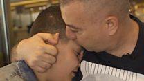 عائلة سورية تلقتي في ألمانيا بعد عامين من الفراق