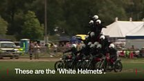 Watch: Last tour for motorcycle acrobatic show team