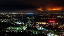 Time-lapse of LA wildfire