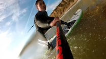 Paddleboarding the English Channel
