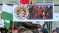 Активисты ПЕГИДА вышли на шествие в Дрездене