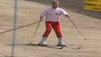 Archive footage of Merthyr ski slope