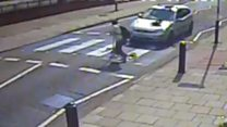CCTV captures crossing hit and run