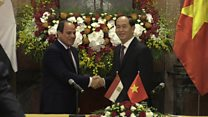 Chủ tịch Trần Đại Quang đón khách Ai Cập