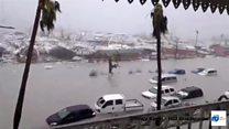 飓风艾尔玛掠过度假胜地圣马丁