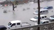 بالفيديو: صور من وسط العاصفة وبعدها