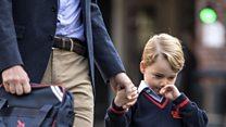 Prince George starts school in London